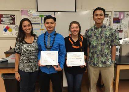 NHIS graduate Chloe-Marie L. Stamm-Calotis receives TFA scholarship