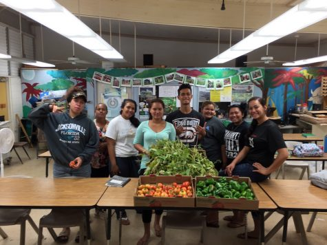 Students in the Agriculture class feel pride in showing how what they learn in the class can result in growth of vegetables and other plants.