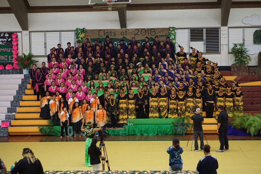 The 28th Annual Songfest ended with all classes doing a mass song.