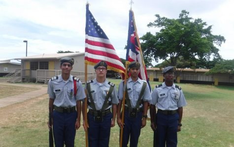 Color Guard students demonstrate pride and responsibility