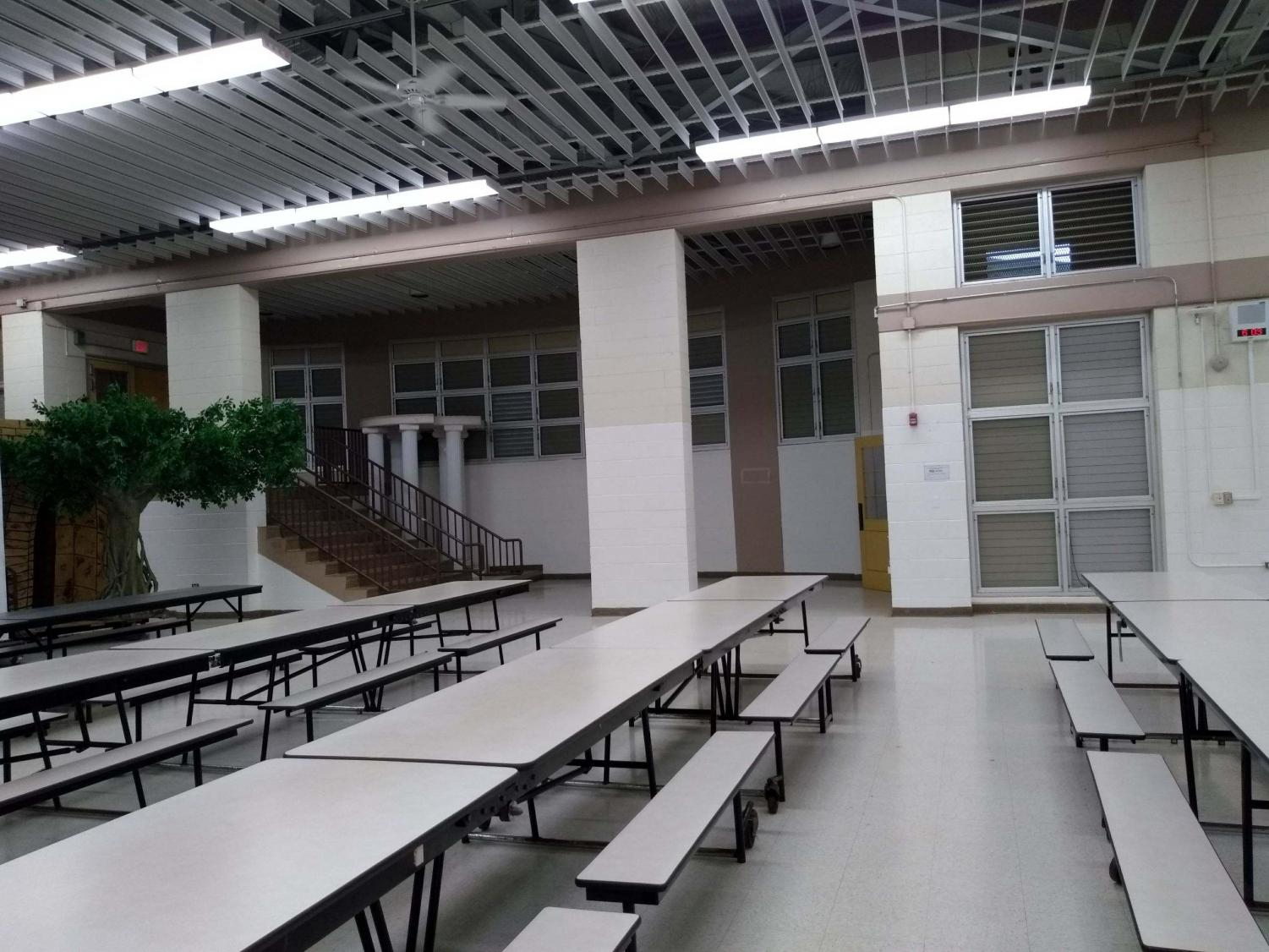 The area that was used to house lockout students now stands vacant during the school day.