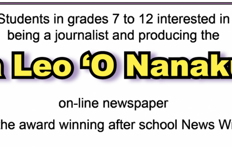Ka Leo ʻO Nānākuli News Writing accepting new students