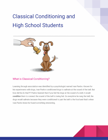Classical Conditioning and High School Students