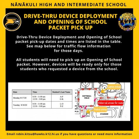 Drive-thru Device Deployment and Opening of School Packet Pick Up